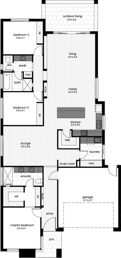 Chicago Display Home Floorplan
