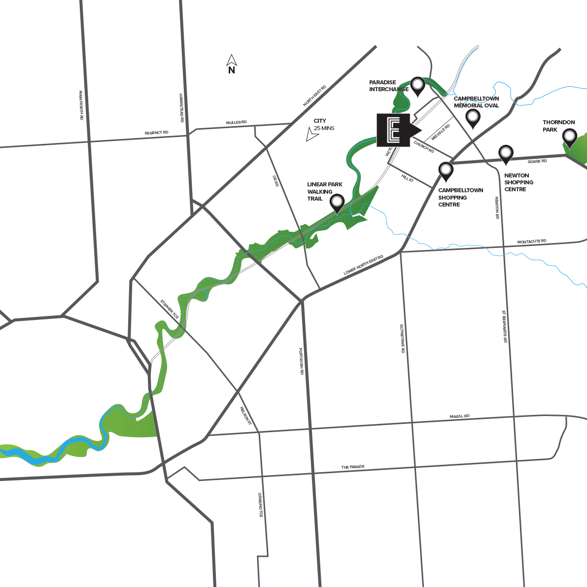 Ellison Location Map