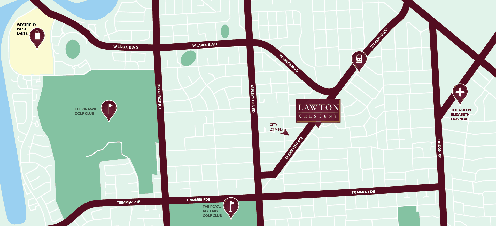 Lawton Crescent location